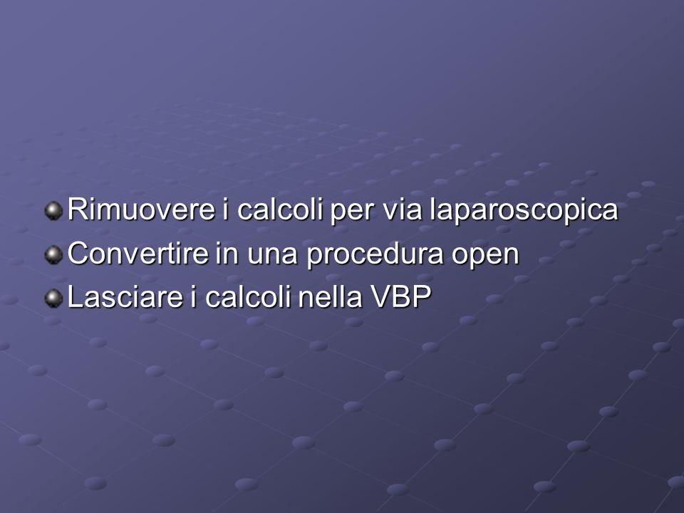 Rimuovere i calcoli per via laparoscopica