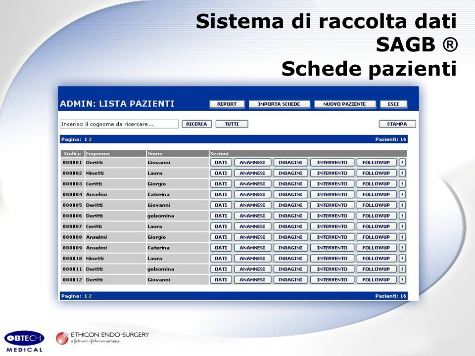 Sistema di raccolta dati SAGB ®