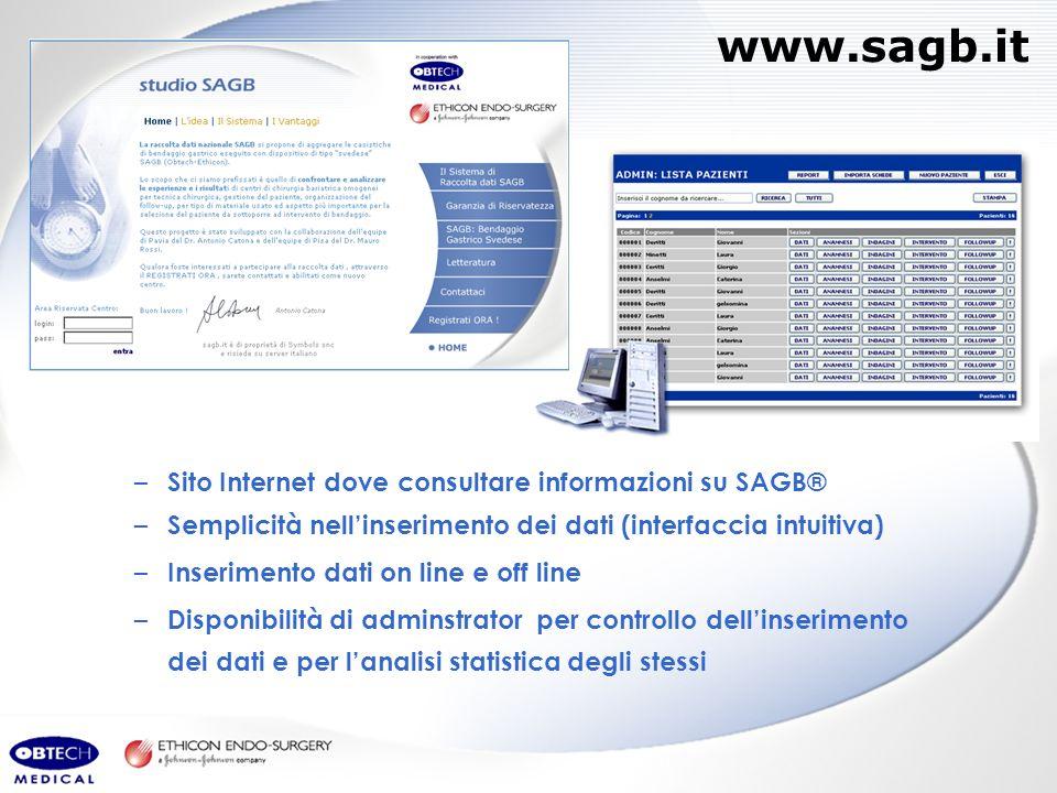 www.sagb.it Sito Internet dove consultare informazioni su SAGB®
