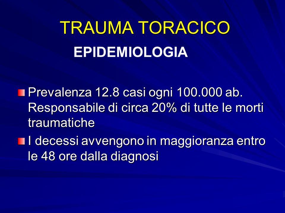 TRAUMA TORACICO EPIDEMIOLOGIA