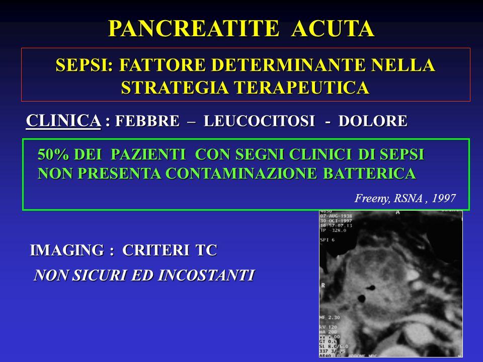 SEPSI: FATTORE DETERMINANTE NELLA STRATEGIA TERAPEUTICA