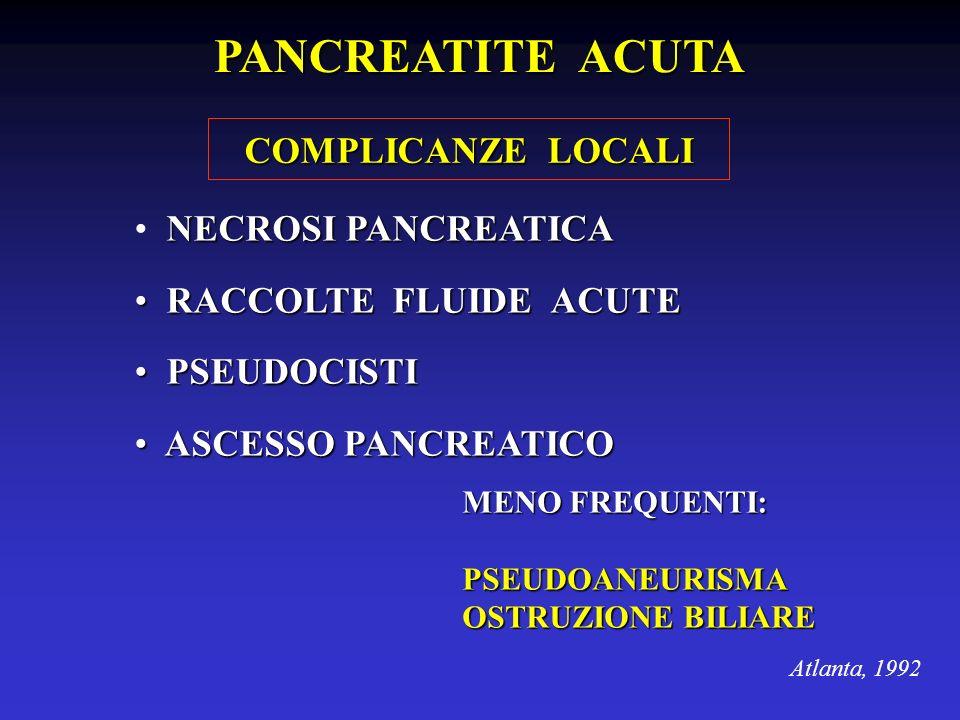 PANCREATITE ACUTA COMPLICANZE LOCALI NECROSI PANCREATICA