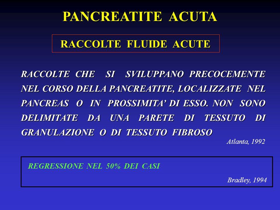 PANCREATITE ACUTA RACCOLTE FLUIDE ACUTE