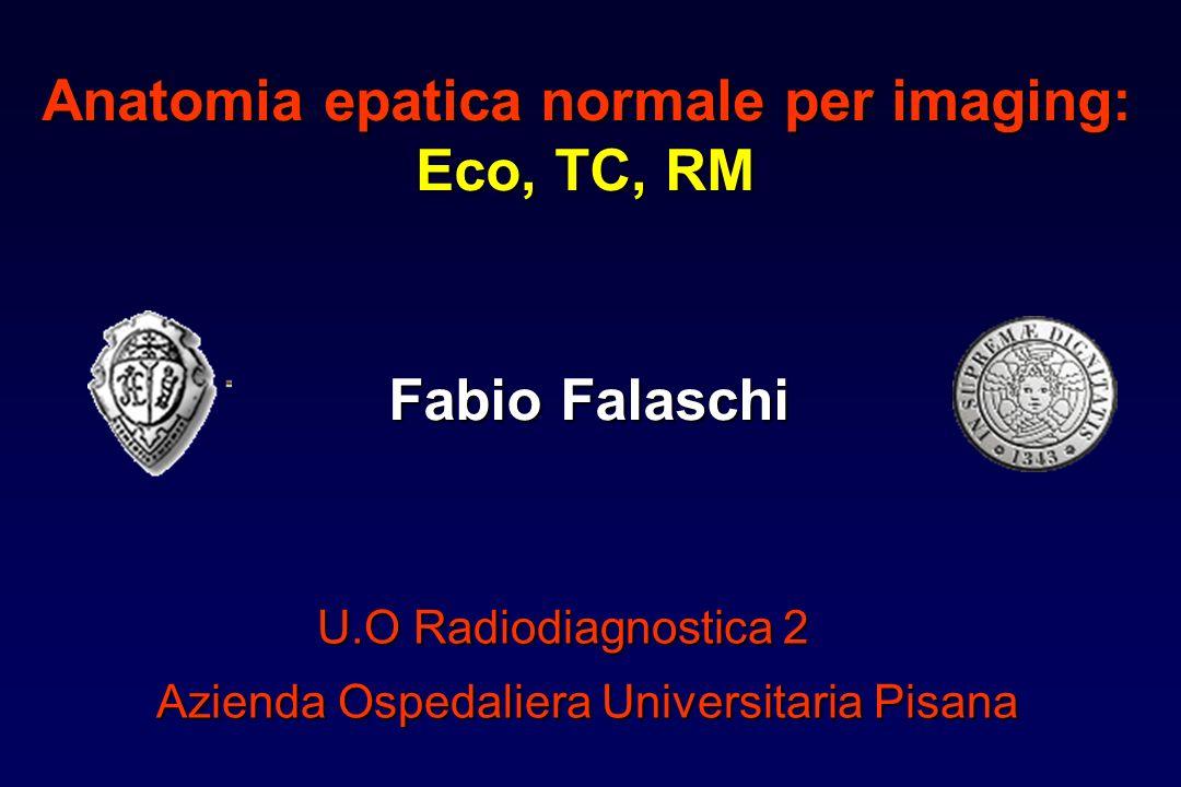 Anatomia epatica normale per imaging: