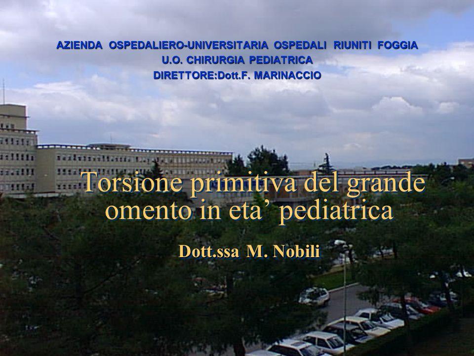 AZIENDA OSPEDALIERO-UNIVERSITARIA OSPEDALI RIUNITI FOGGIA
