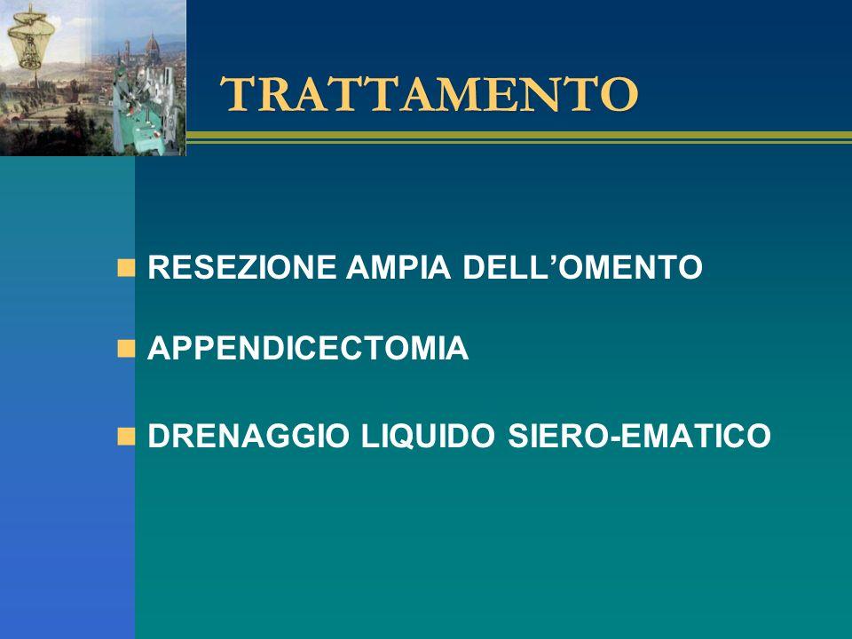 TRATTAMENTO RESEZIONE AMPIA DELL'OMENTO APPENDICECTOMIA