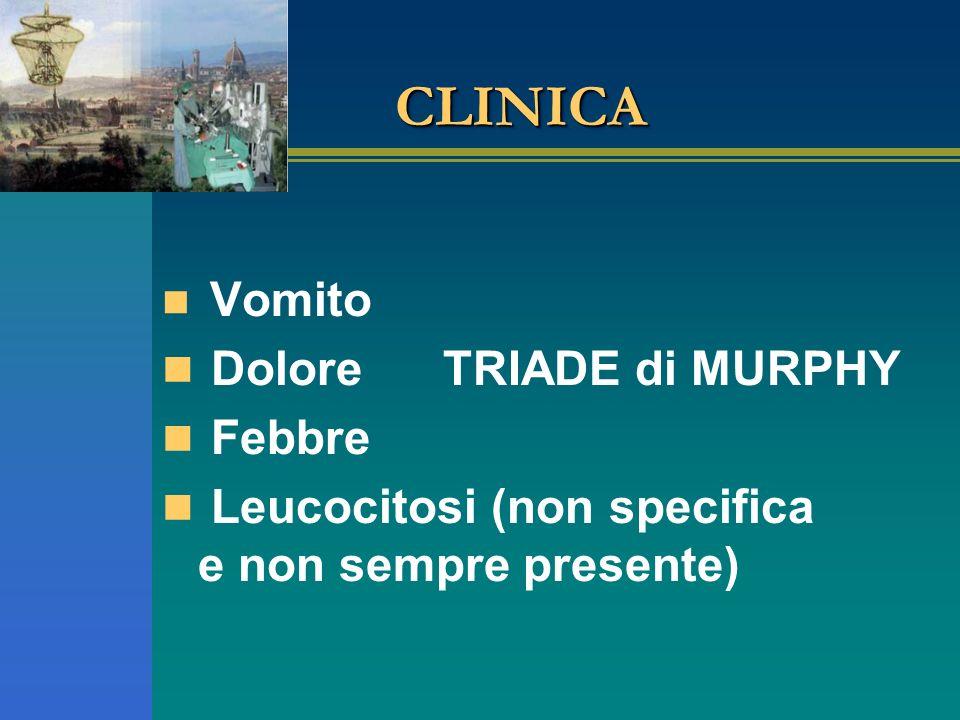 CLINICA Dolore TRIADE di MURPHY Febbre