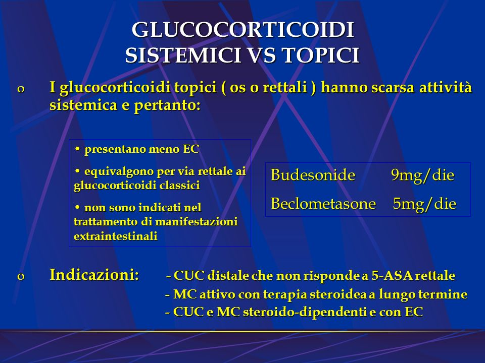 GLUCOCORTICOIDI SISTEMICI VS TOPICI