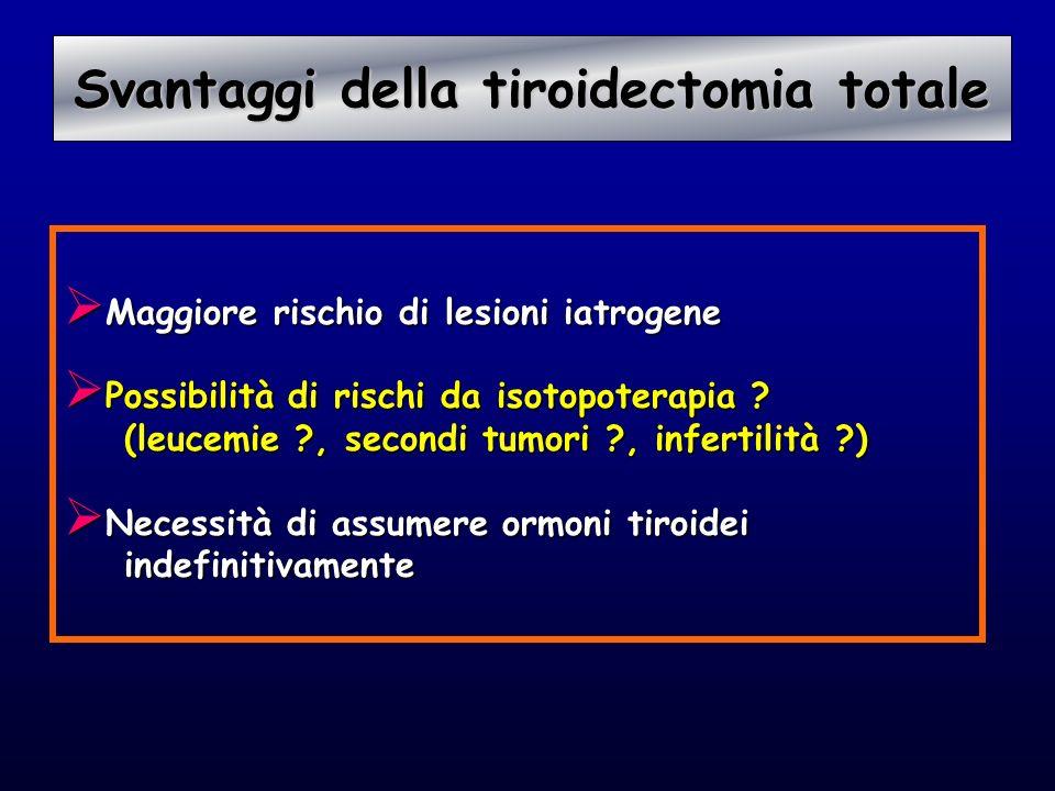 Svantaggi della tiroidectomia totale