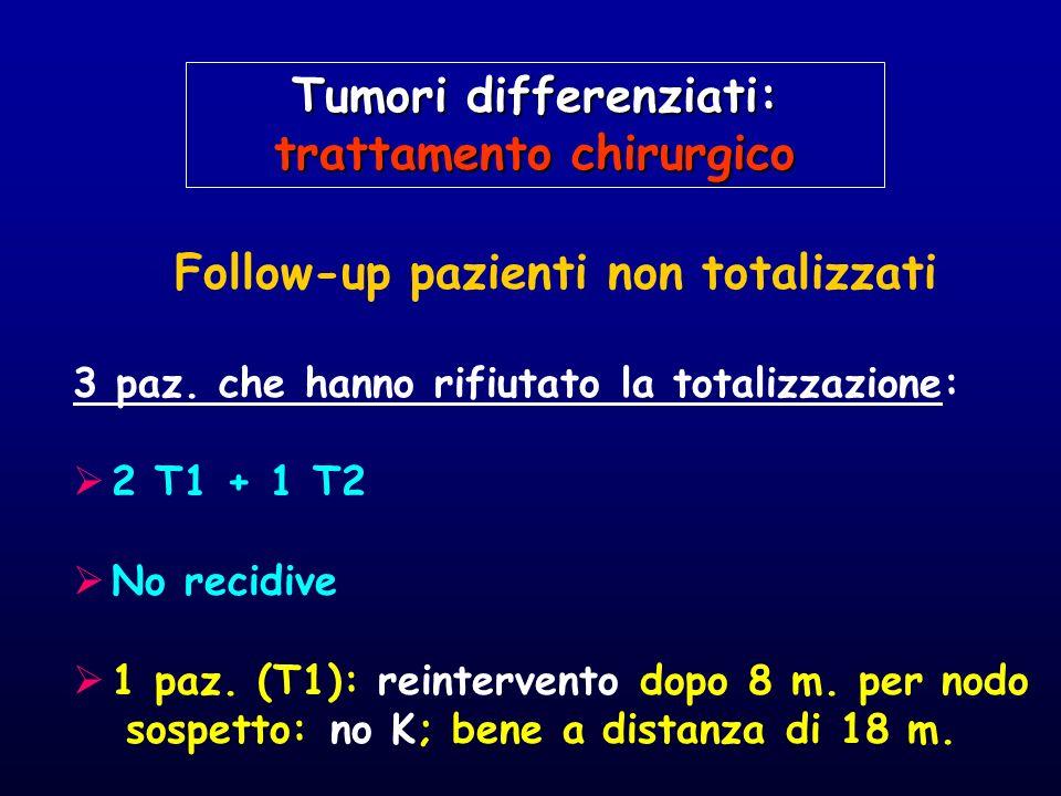 Tumori differenziati: trattamento chirurgico