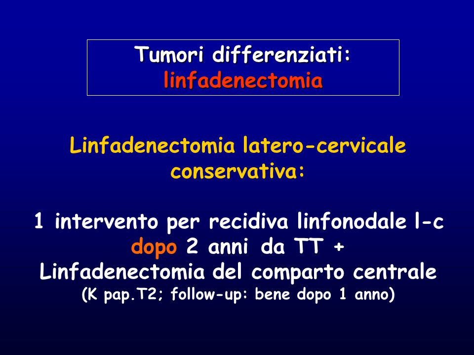 Tumori differenziati: linfadenectomia