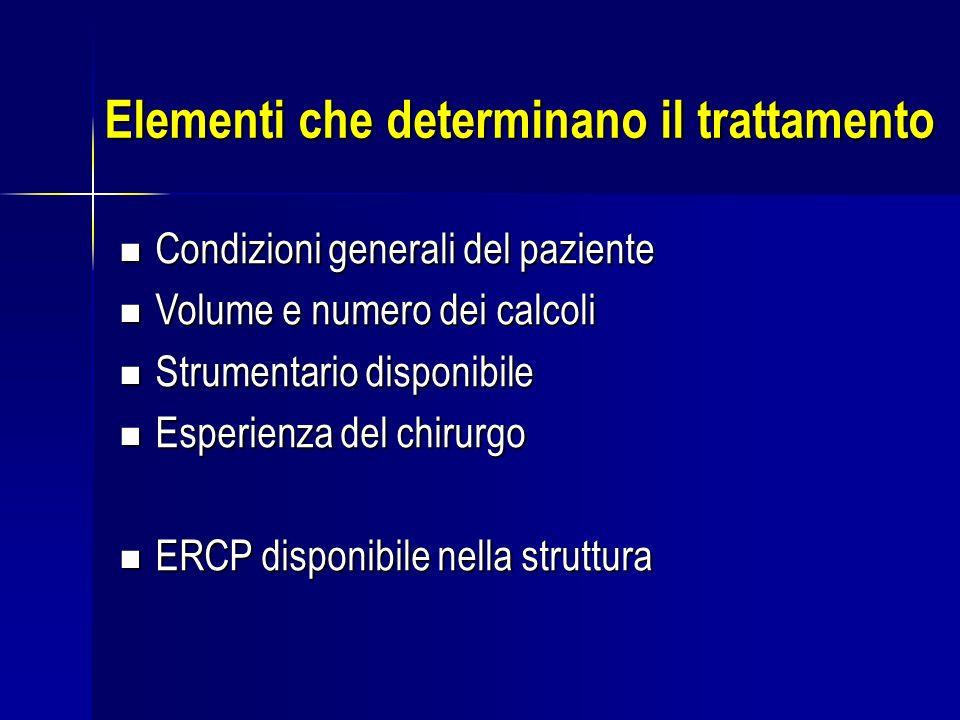Elementi che determinano il trattamento