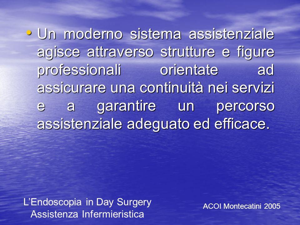 Un moderno sistema assistenziale agisce attraverso strutture e figure professionali orientate ad assicurare una continuità nei servizi e a garantire un percorso assistenziale adeguato ed efficace.