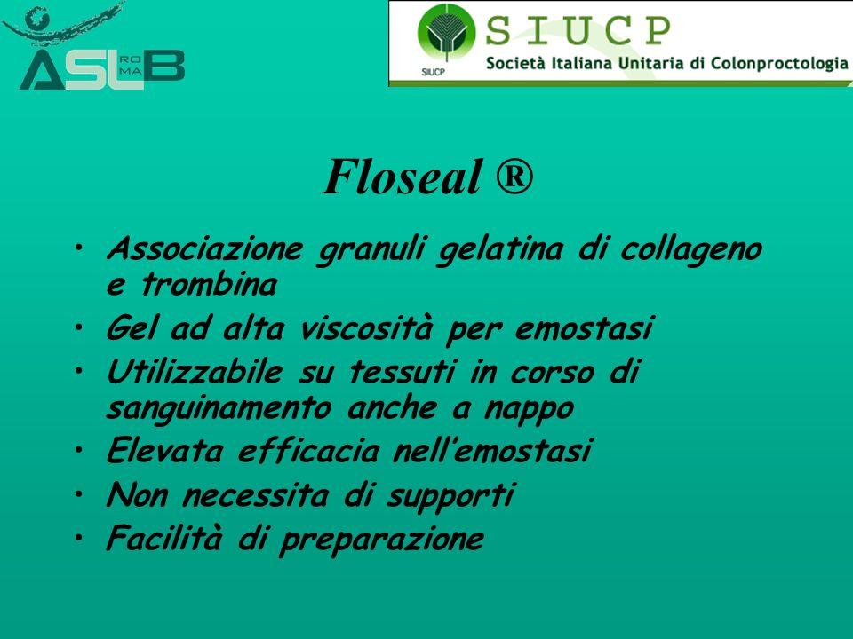 Floseal ® Associazione granuli gelatina di collageno e trombina