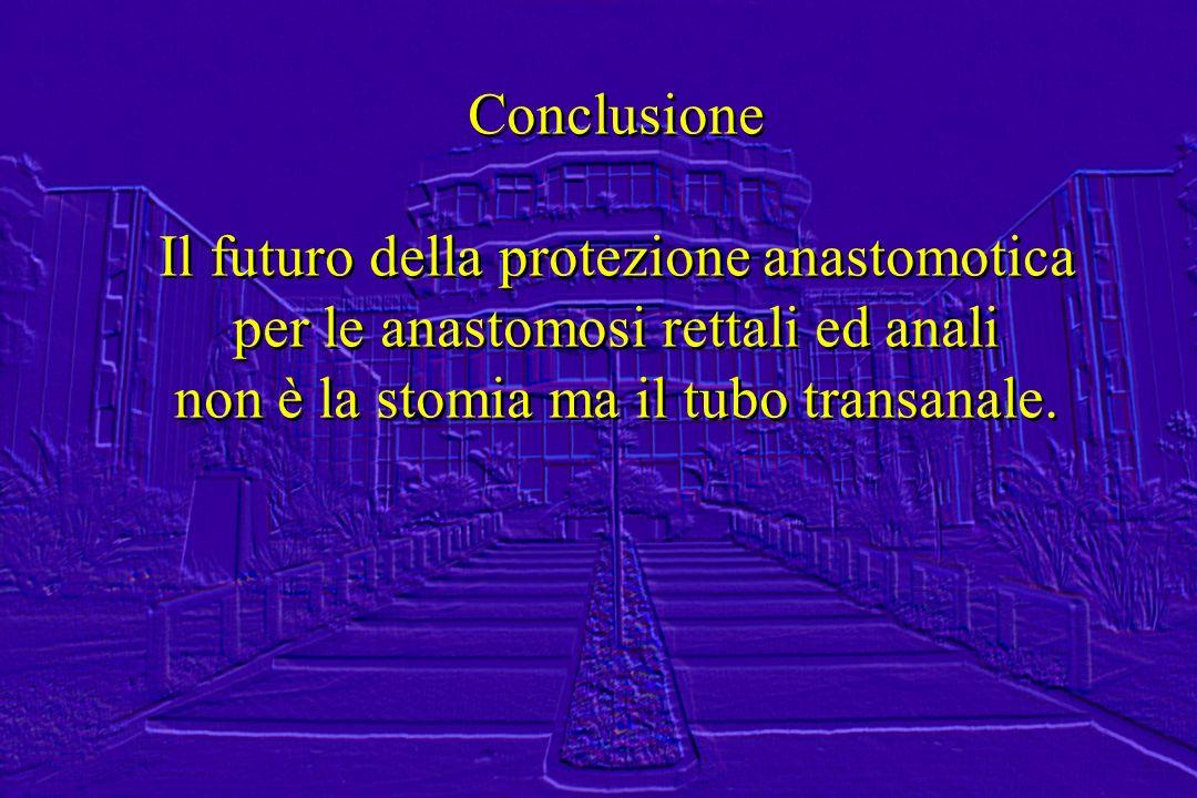 Il futuro della protezione anastomotica