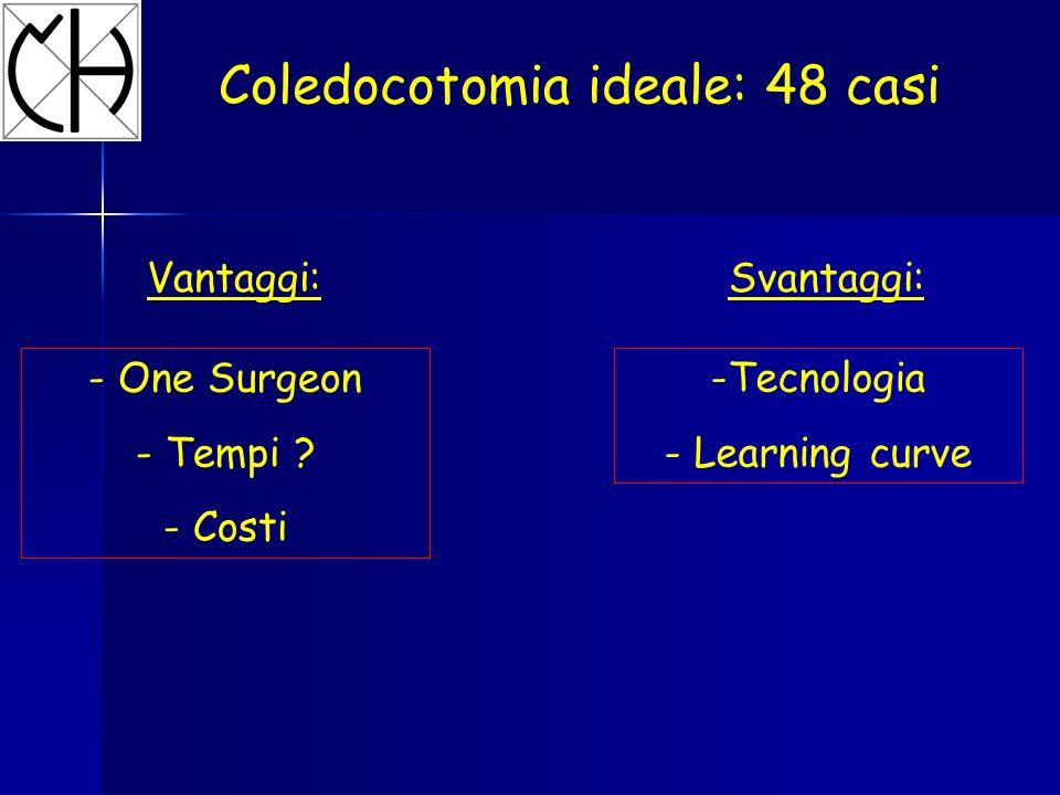 Coledocotomia ideale: 48 casi