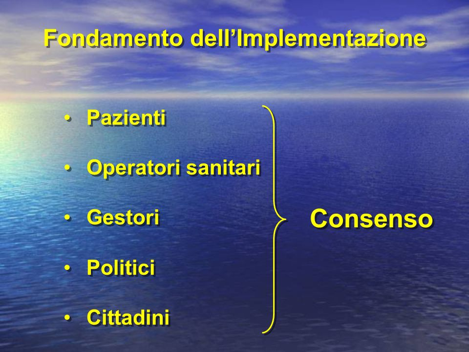 Fondamento dell'Implementazione