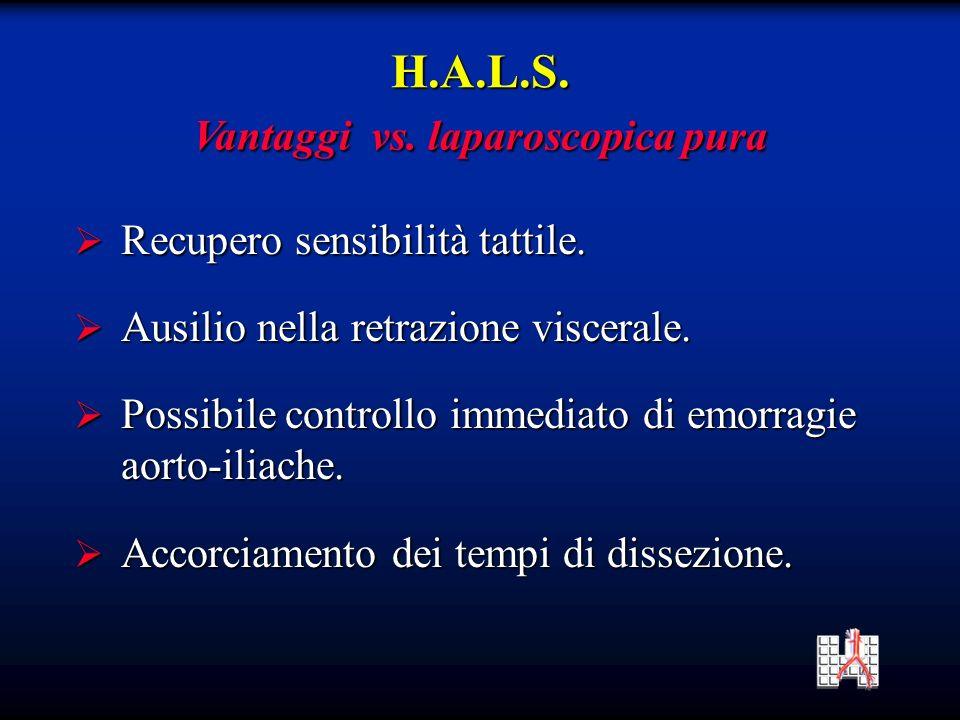 Vantaggi vs. laparoscopica pura