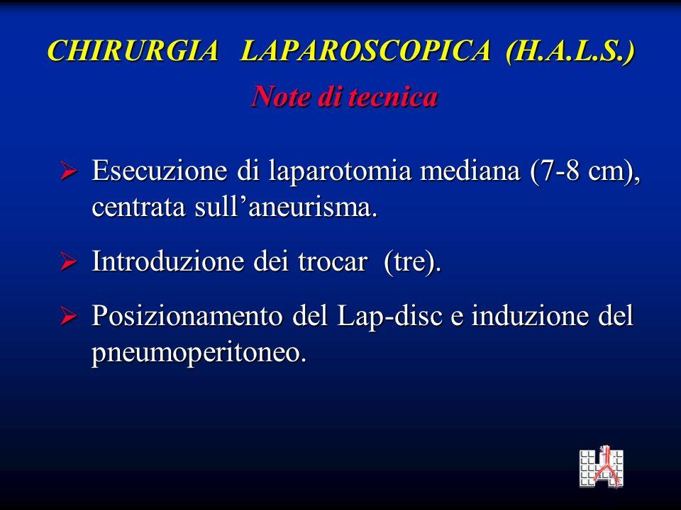 CHIRURGIA LAPAROSCOPICA (H.A.L.S.)