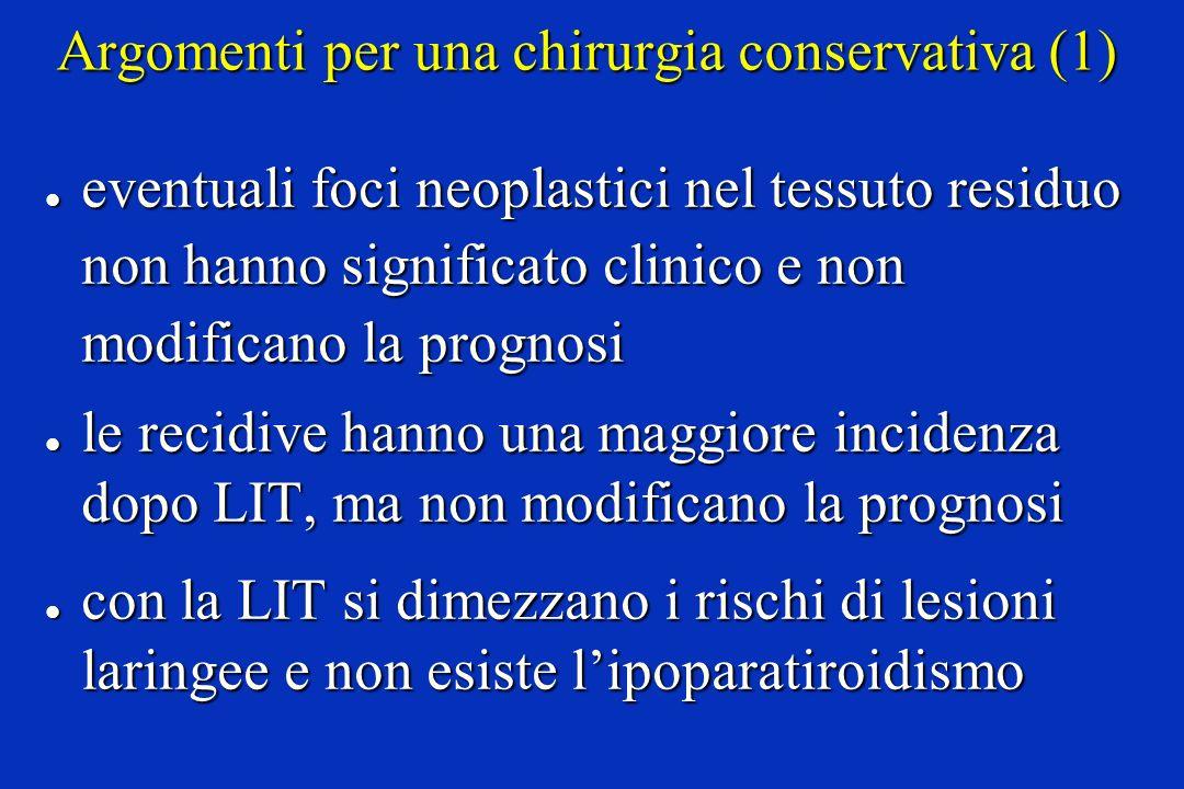 Argomenti per una chirurgia conservativa (1)