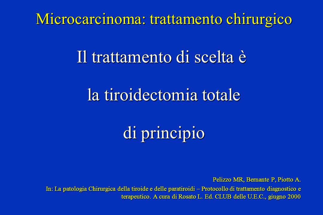 Microcarcinoma: trattamento chirurgico