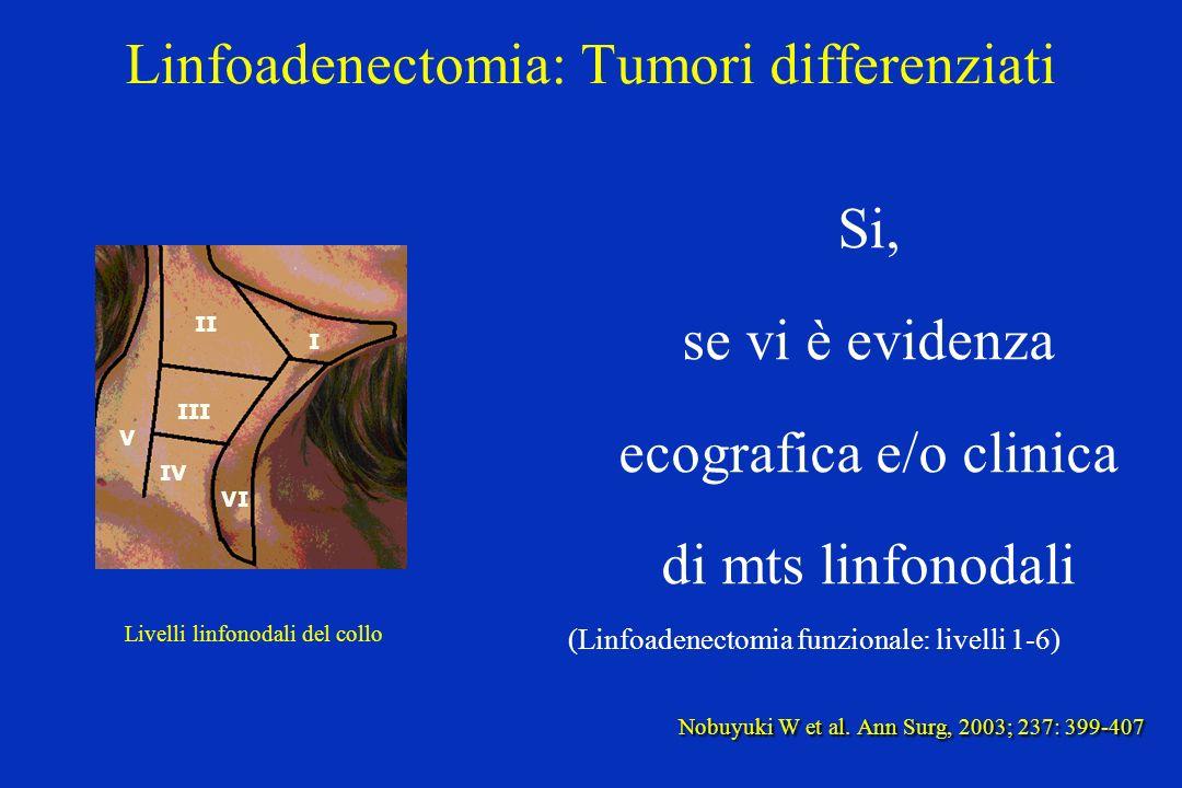 Linfoadenectomia: Tumori differenziati