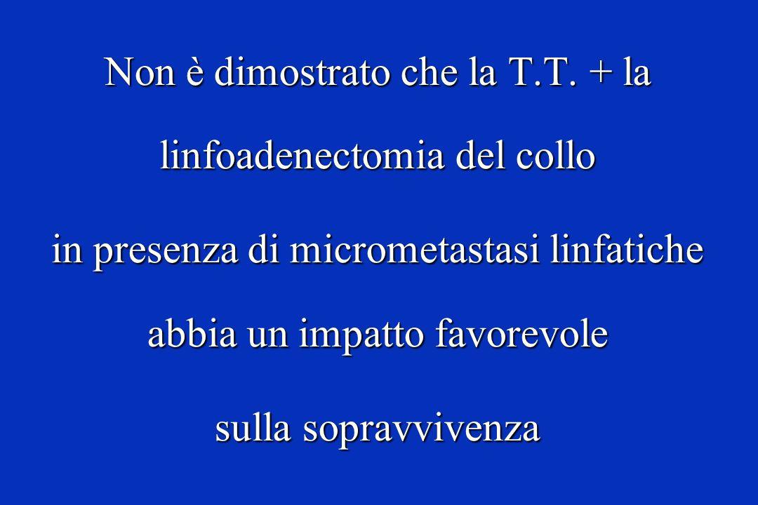 Non è dimostrato che la T.T. + la linfoadenectomia del collo