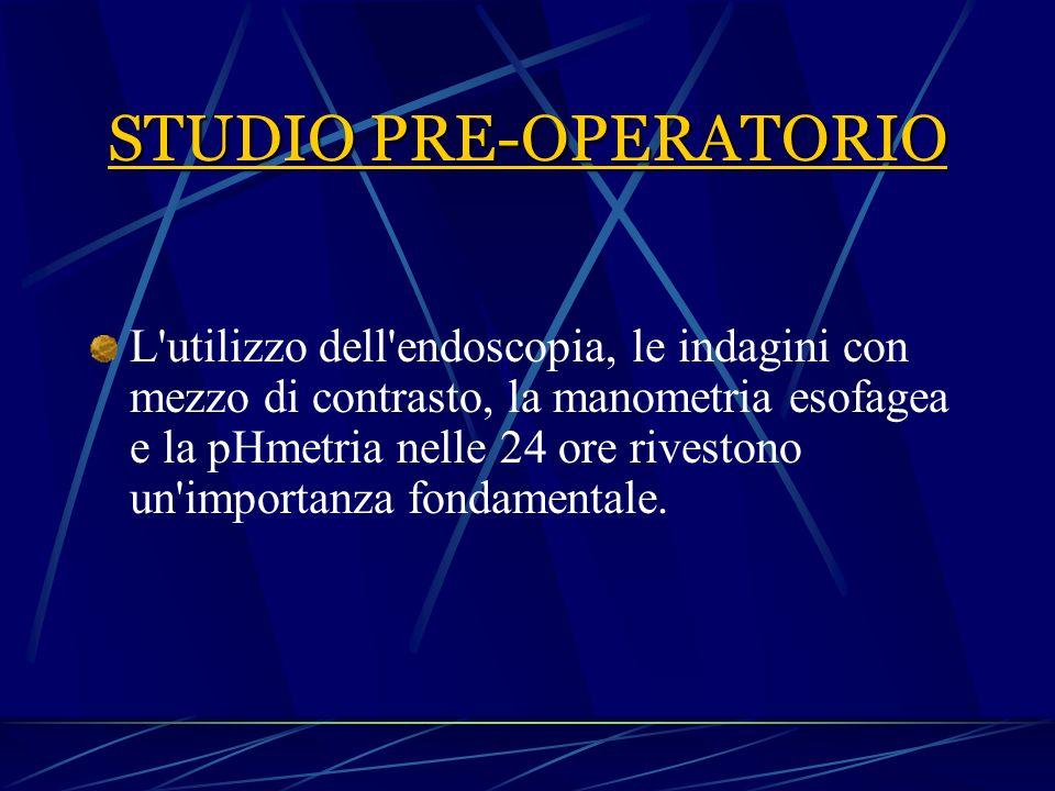 STUDIO PRE-OPERATORIO