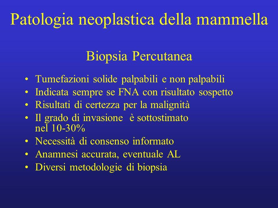 Patologia neoplastica della mammella Biopsia Percutanea