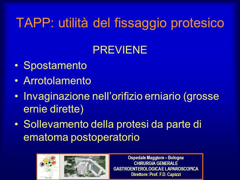 TAPP: utilità del fissaggio protesico