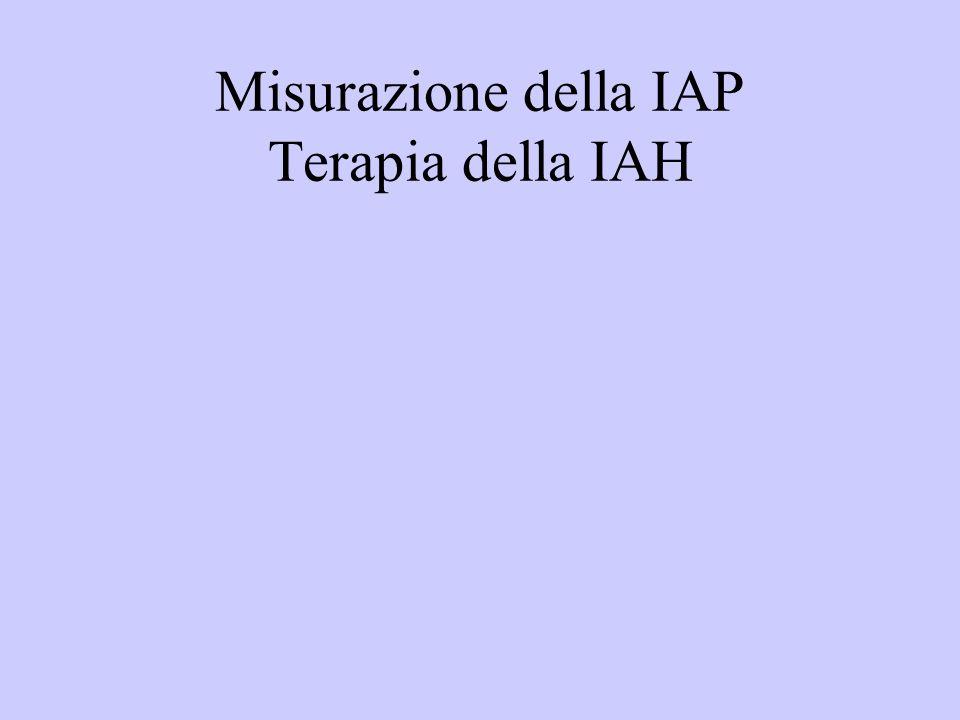 Misurazione della IAP Terapia della IAH