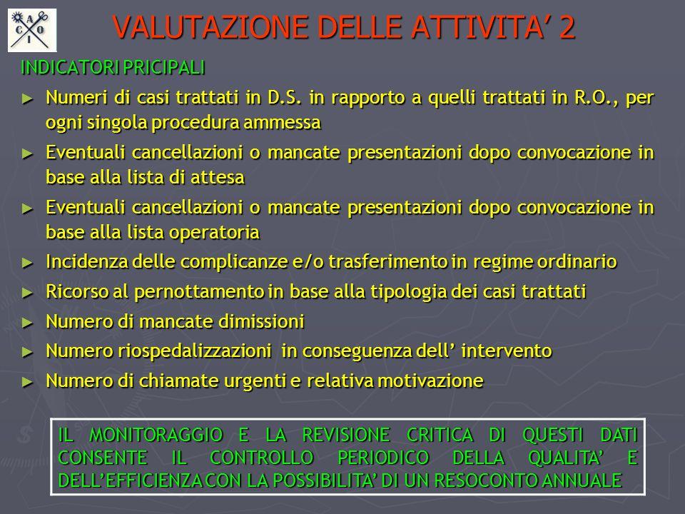 VALUTAZIONE DELLE ATTIVITA' 2