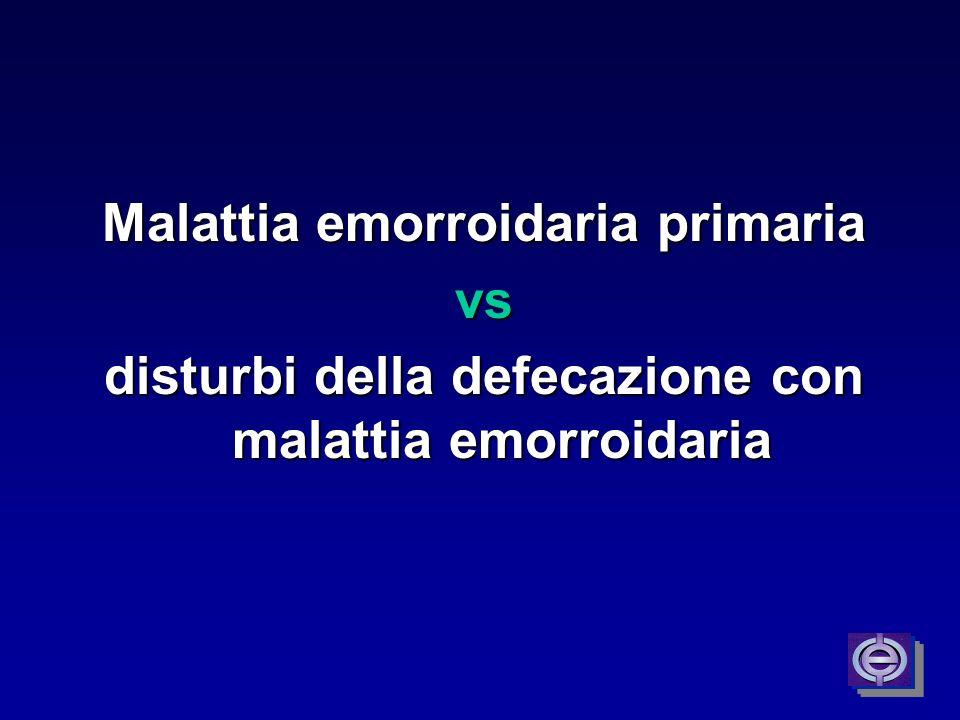 Malattia emorroidaria primaria vs
