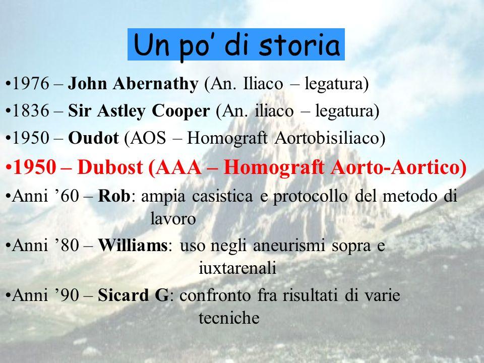 Un po' di storia 1950 – Dubost (AAA – Homograft Aorto-Aortico)