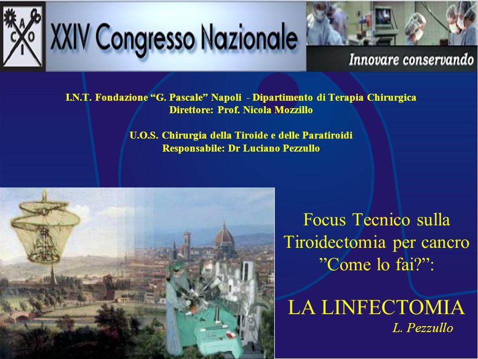 I.N.T. Fondazione G. Pascale Napoli - Dipartimento di Terapia Chirurgica