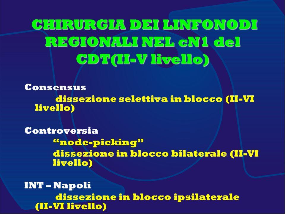 CHIRURGIA DEI LINFONODI REGIONALI NEL cN1 del CDT(II-V livello)