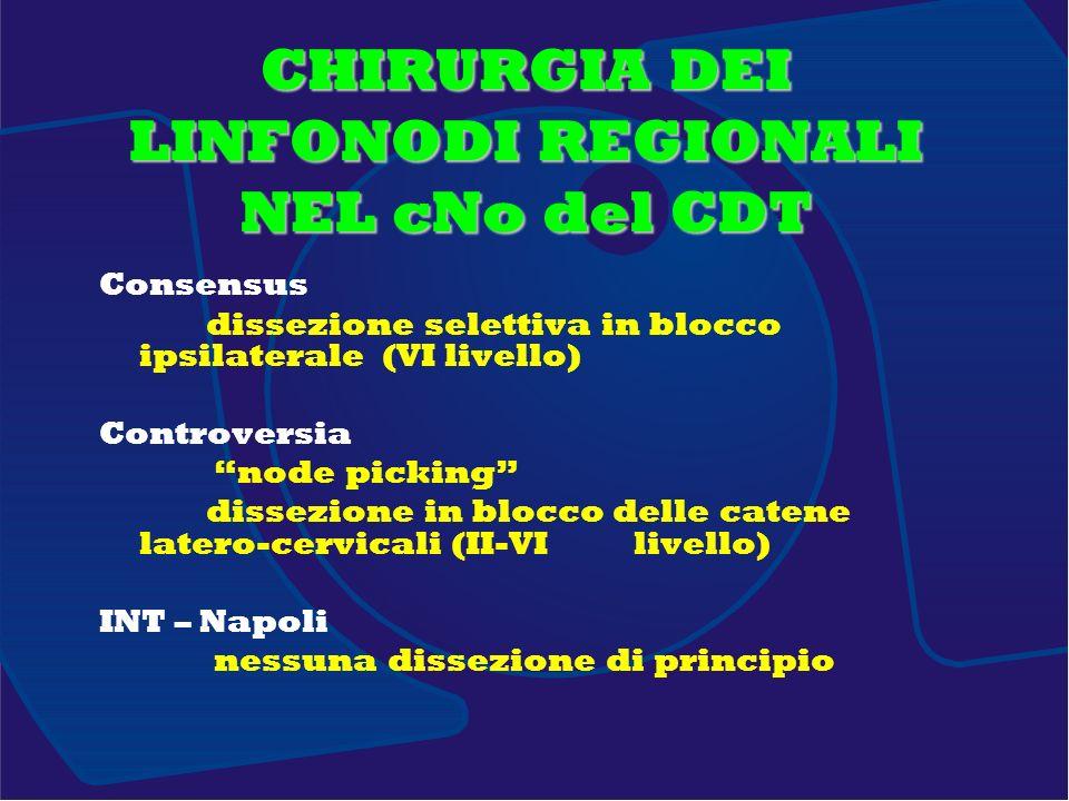 CHIRURGIA DEI LINFONODI REGIONALI NEL cNo del CDT