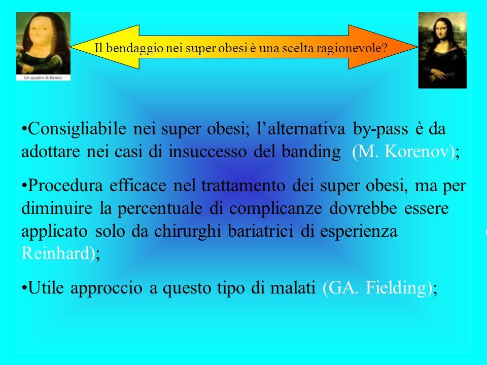 Utile approccio a questo tipo di malati (GA. Fielding);