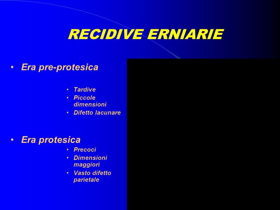RECIDIVE ERNIARIE Era pre-protesica Era protesica Tardive