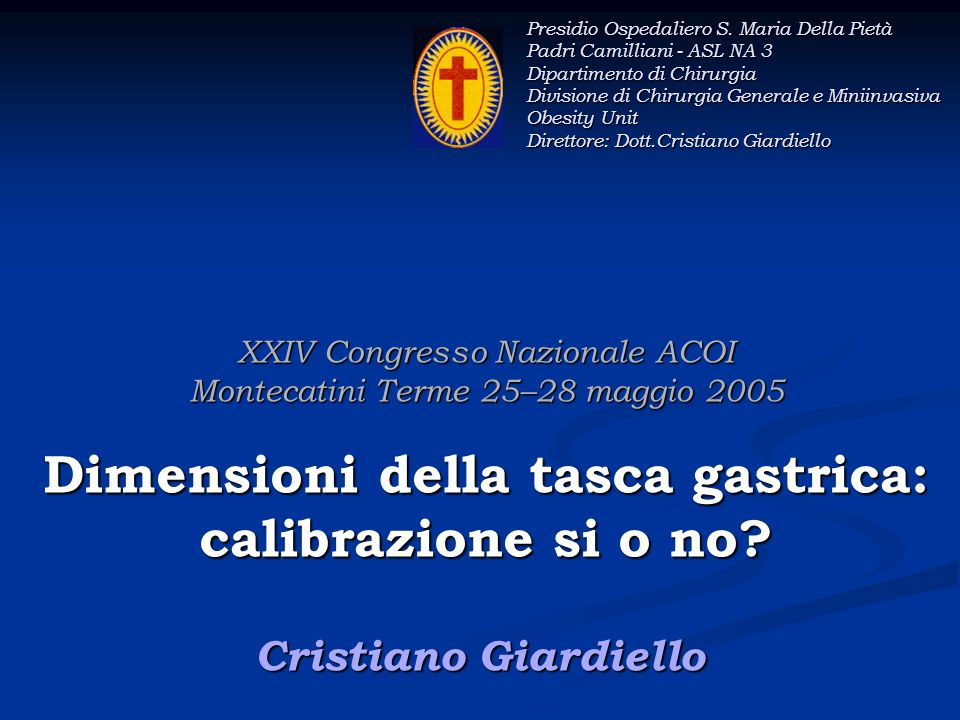 Presidio Ospedaliero S. Maria Della Pietà Padri Camilliani - ASL NA 3