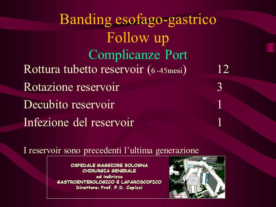 Banding esofago-gastrico Follow up Complicanze Port