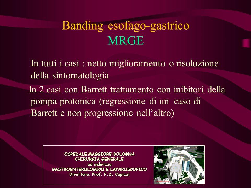 Banding esofago-gastrico MRGE