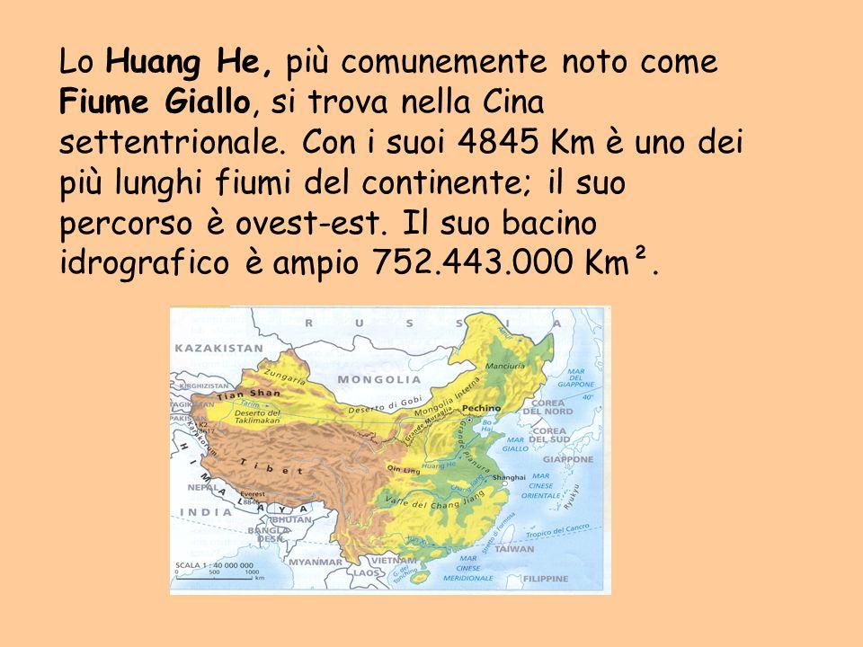 Lo Huang He, più comunemente noto come Fiume Giallo, si trova nella Cina settentrionale.
