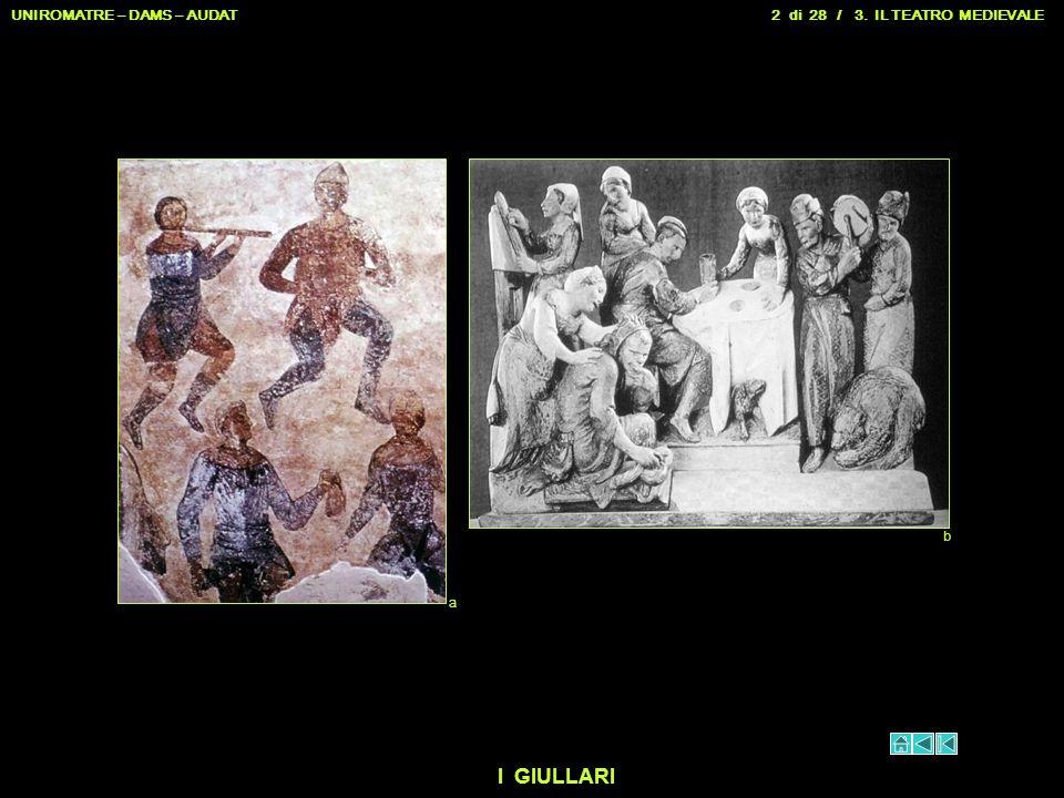 UNIROMATRE – DAMS – AUDAT 2 di 28 / 3. IL TEATRO MEDIEVALE