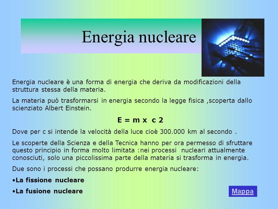 Energia nucleare E = m x c 2 Mappa