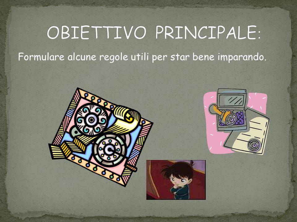 OBIETTIVO PRINCIPALE: