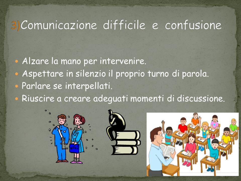 3)Comunicazione difficile e confusione