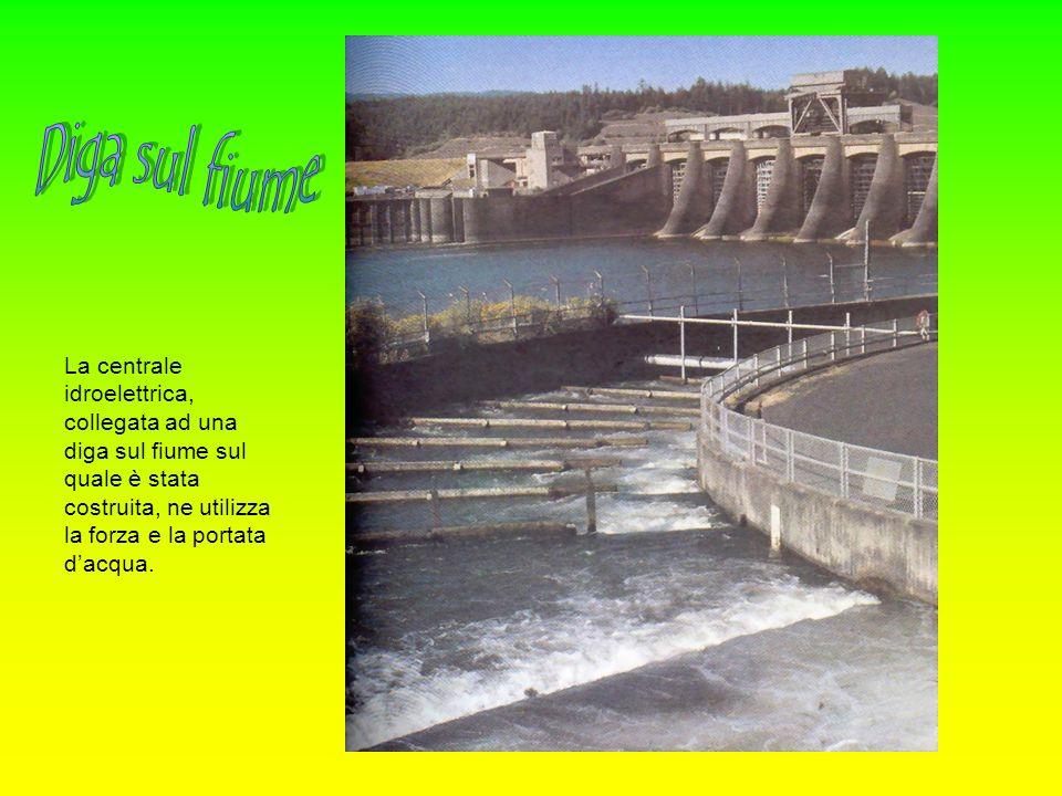 Diga sul fiume La centrale idroelettrica, collegata ad una diga sul fiume sul quale è stata costruita, ne utilizza la forza e la portata d'acqua.