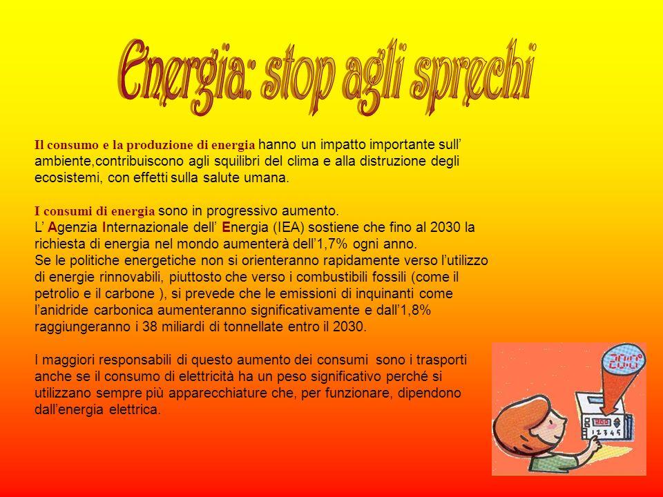 Energia: stop agli sprechi