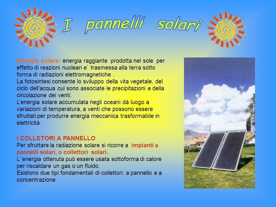 I pannelli solari
